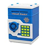 Dibujos animados electrónica de imitación ATM hucha alcancía moneda dinero en efectivo puede dinero banco niños regalo para cumpleaños día de Navidad