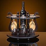 Nuovo Rotondo Di Alta Qualità In Legno Portabottiglie Vino Rosso Portabottiglie Cucina Scaffale Espositore Per Vino