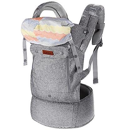 51Js496ak0L. SS416  - Lictin Mochilas portabebé Manos libres - Portabebés transpirable ergonómicamente diseñado Múltiples posiciones Se adapta a medida que sus hijos crece, Certificado CE para bebé Hasta 15 kg
