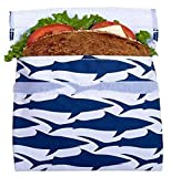 Lunchskins Sandwich-Beutel, Hai-Design, Blau