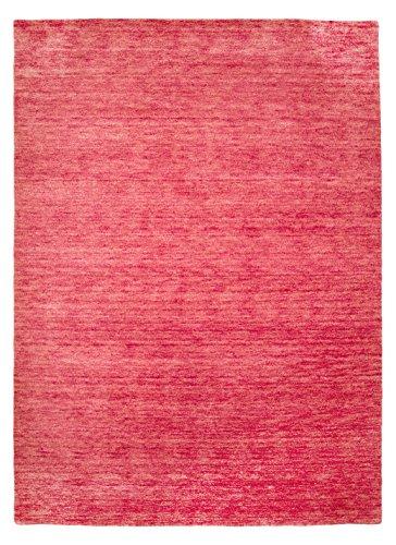 Morgenland Gabbeh Teppich UNI 350 x 250 cm Rosa Pink Einfarbig Melierung Modern Orient Teppich...