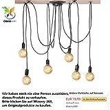Cocoarm Spinne Kronleuchter DIY Decke Spider Lampe Retro Industry Ceiling Light DYI Vintage Pendelleuchte Speisesaal Schlafzimmer Hotel Dekoration (6 Kopf)