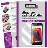 dipos I 2X Schutzfolie klar passend für ZTE Blade L5 Plus Folie Displayschutzfolie