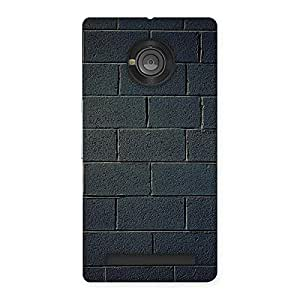 Enticing Black Brick Wall Back Case Cover for Yu Yuphoria