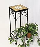DanDiBo Blumenhocker Merano Mosaik 12012 Blumenständer 46-62 cm Hocker Eckig Beistelltisch