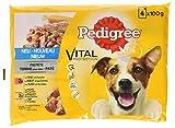 Pedigree Hundefutter Nassfutter Vital Protection Adult / Pastete mit Rind / Huhn und Karotten, 13er Pack (13 x 4 x 100 g)