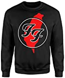 Unisex-Sweatshirt Foo Fighters Red Paint - Set-In Sweatshirt LaMAGLIERIA, XL, Schwarz