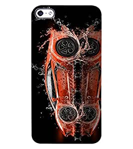 ColourCraft Creative Car Image Design Back Case Cover for APPLE IPHONE 4S