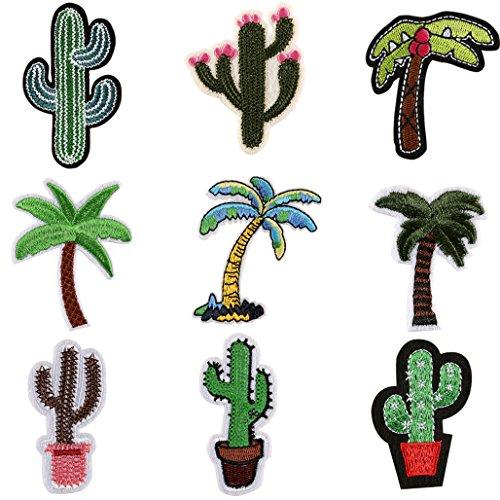 display089Cute Kaktus Coco bestickt Tuch Eisen auf Patch Nähen Aufnäher Badge -