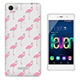 C01587 - Pink Flamingo Pattern Design Wiko Fever special