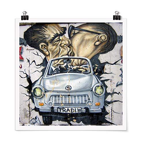 Bilderwelten Poster Galerieprint Kunstdruck Wanddekoration 1989 Quadrat Druck Matt 30 x 30cm
