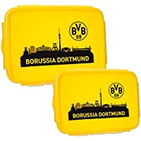 BVB Borussia Dortmund Brotbüchse Brotdose 2er Pack