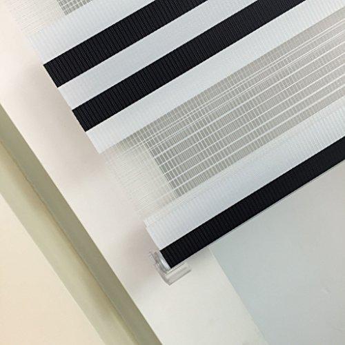 Doppelrollo Schwarz-Weiß SUNWORLD - 8