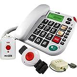 Maxcom KXTSOS: Seniorentelefon mit Funk-Notruf-Sender,...