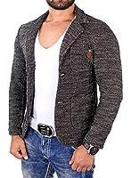 Reslad Herren Sakko Strickjacke Fancy Look Strick Jacke RS-1421