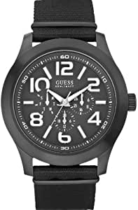 Guess Herren-Armbanduhr XL Analog Quarz Textil W11623G1