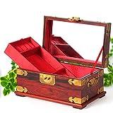 Rote Palisander Chinesische Schmuck Vintage Hand Aufbewahrungsbox dekorative Holzkiste-B