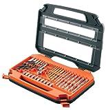 Black and Decker A7152-XJ - Pack de 35 piezas para atornillar y taladrar, color naranja y negro