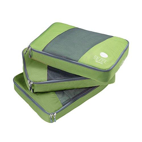 Strand-systeme (EEZEE Leichte Kleidung Organizer & Storage System, Reisetasche oder Wäschesack für Strand, Camping, Reisen & Urlaub mit Doppel-Ripstop-PU-Beschichtung Set von 3 (Mittel))