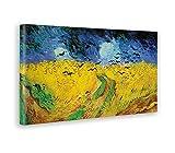 - Quadro - Stampa su Tela Canvas - Vincent Van Gogh - Campi di Grano con Voli di Corvi - 100 X 50 Cm
