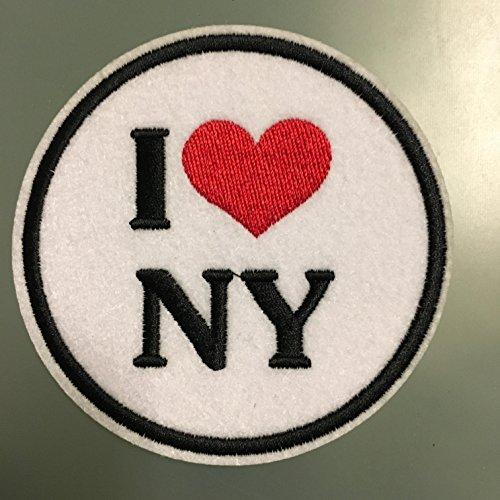 Patch-new Auf Eisen York (I love NY–embroideed Eisen auf Patch–7,6cm New York)