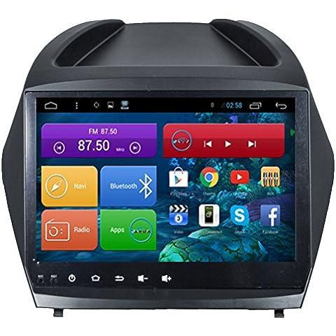 Top Navi da 10.11024* 600Android 4.4PC Auto lettore per Hyundai ix352015Auto di navigazione GPS WIFI Bluetooth Radio 1,2GB CPU DDR3Capacitivo Touch Screen 3G car stereo audio rubrica RDS AUX Specchio link 16GB Quad Core