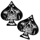 Skino 2x Pegatinas Vinilo Adhesivos Skull Calavera Espadas para Coche Moto finestrìno Puerta Casco Scooter Bicicleta Bae Tuning B 269
