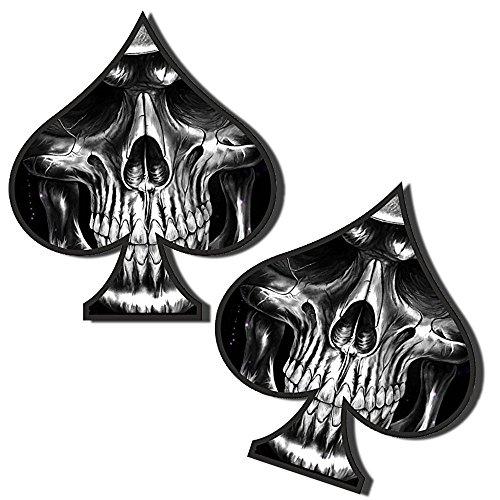 Skino 2x Pegatinas Vinilo Adhesivos Skull Calavera Espadas para...