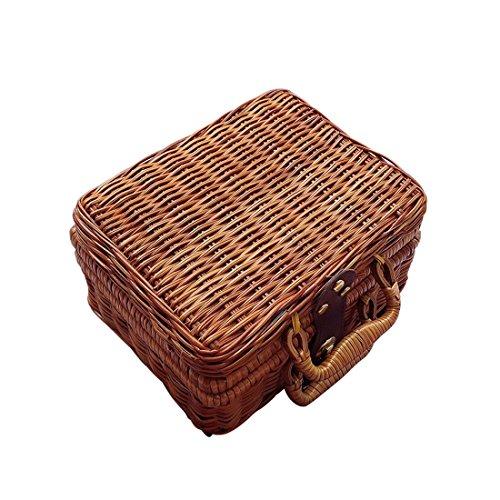 bccbad08f31b TOOGOO Pure hand Ms. Canton Ms. pouch Chinese Literature Art Vintage  cestino in rattan Bamboo Travel Tote Props Borsa di stoccaggio