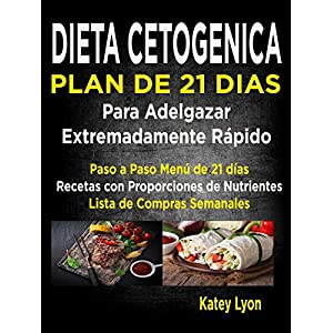 Dieta Cetogénica  Plan De 21 Días Para Adelgazar  Extremadamente Rápido!: Paso A Paso Menú De 21 Días,  Recetas Con Proporciones De Nutrientes In