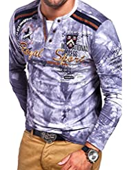 MT Styles 2in1 T-shirt à manches longues P-AVIATOR homme R-0856
