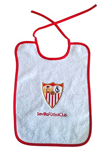 Sevilla CF 06BAB06-00 Babero, Unisex bebé, Blanco/Rojo, Talla Única