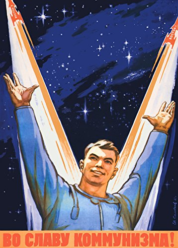 Kommunismus Russischen (World of Art Kunstdruck/Poster, Vintage-Stil, Motiv sowjetisches Propagandaposter für die Raumfahrt