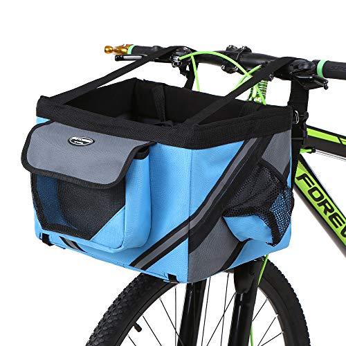 Lixada Bicicleta de Manillar Cesta