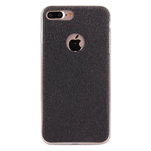 BING Für IPhone 7 Plus Glitter Powder Soft TPU Schutzhülle BING ( Color : Black ) Black
