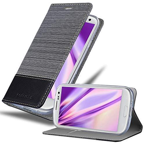 Cadorabo Custodia Libro per Samsung Galaxy S3 / S3 Neo in Grigio Nero - con Vani di Carte, Funzione Stand e Chiusura Magnetica - Portafoglio Cover Case Wallet Book Etui Protezione