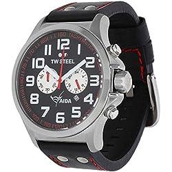 TW Steel Hombre Reloj de pulsera Pilot Aida Collection Cronógrafo Negro Fecha TW de 882UVP 259eur