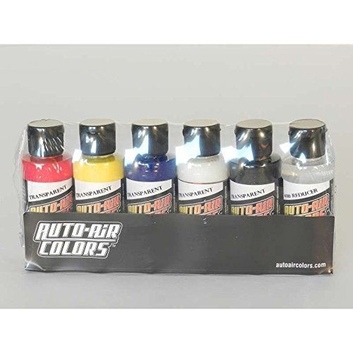 Creartec Auto Air transparent Set 6x60ml 11 4298 Airbrushfarbe *** -