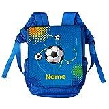 Striefchen® Kinder-Rucksack mit Namen - Fußball - ideal für den Kindergarten