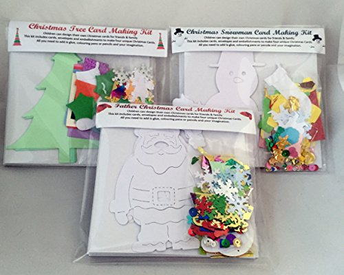 Wooden Dreams Childrens Christmas Card Making Pack, makes 12 unique personalised Christmas cards, encourages imagination, fun, creative, Christmas craft