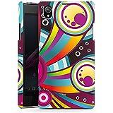 Sony Xperia Z1 Hülle Premium Case Schutz Cover Kreise Comic Bunt