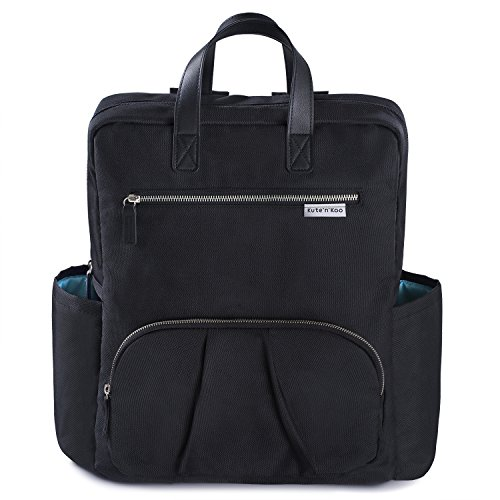 Wickeltasche von Kute 'n' Koo - Mode und Funktion in einer Tasche – In New York City entworfen - Passende Wickelauflage - Wasserbeständigkeit und Wischfläche - und vieles mehr (Windel-taschen Mädchen Lila)