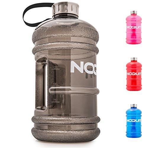 NOQUIT ® Water Jug - 2.2 L Fitness Trinkflasche - XXL Sport-Wasserflasche - Fitness Bottle - BPA & DEHP frei - perfekt für Crossfit, Bodybuilding & Kampfsport (Und Fitness Sport)