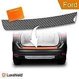 Luxshield® Ladekantenschutz Folie inkl. Profi-Rakel - Ford Fiesta '09 MK7 FaceLift – ab 07/2013 - Stoßstangenschutz, Kratzschutz, Lackschutzfolie - Carbon Optik - selbstklebend