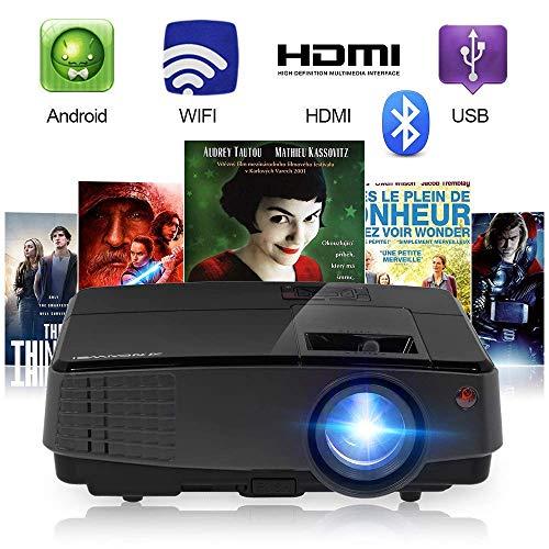 ec7d2b14e3 2018 Projecteur portable sans fil Bluetooth 2800 Projecteur de cinéma à  domicile d'
