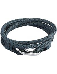 Rafaela Donata Damen-Armband Edelstahl Leder 60907018