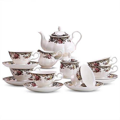 Set de café en céramique / 15 tasses de tasse de café Set / cadeau café / tasse de café de haute qualité (2 couleurs en option) ( couleur : A )