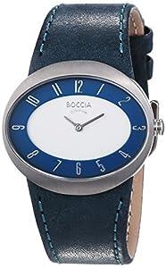 Boccia Style 3165-03 - Reloj de mujer de cuarzo, correa de piel color azul claro de Boccia