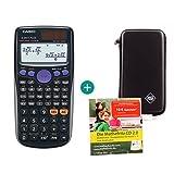 Casio FX 85 GT Plus Schwarz + Schutztasche + Lern-CD