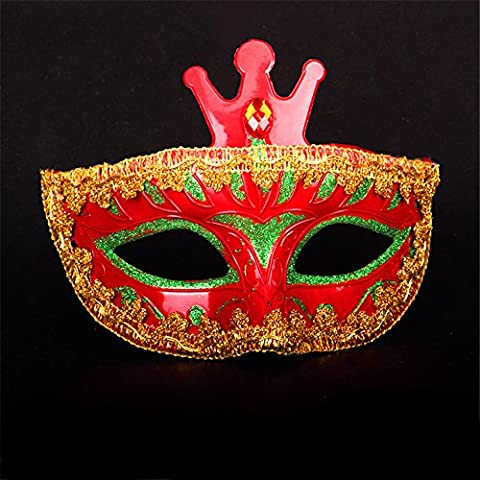 Halloween Mask Make-Up Dance Show Party Props Painted Beauty Princess Masques,Rouge